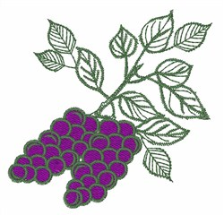 Grape Clusters embroidery design