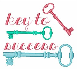 Key To Success embroidery design