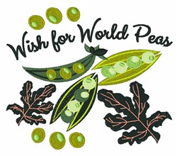 Wish For World Peas embroidery design