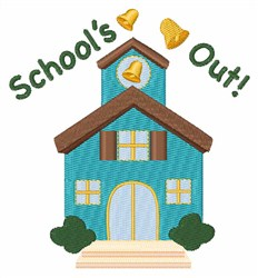 Schools Out! embroidery design