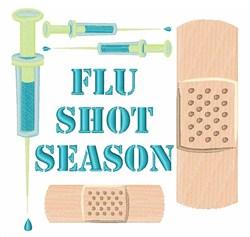 Flu Shot Season embroidery design
