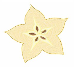Star Fruit embroidery design