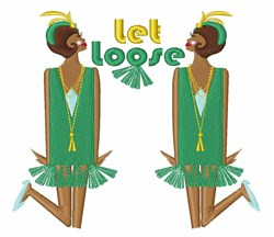 Let Loose embroidery design