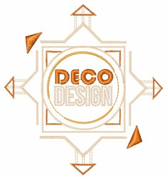 Deco Design embroidery design