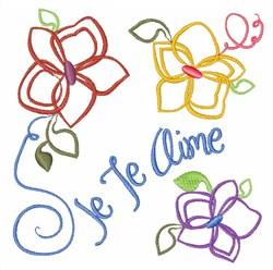 Je Te Aime embroidery design