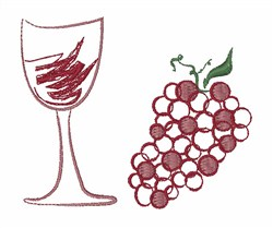 Wine Grapes embroidery design