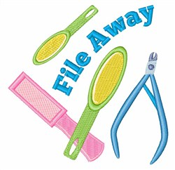 File Away embroidery design