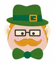 Irish Hat & Mustache embroidery design