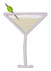 Will Work For Martinis embroidery design