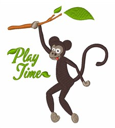 Play Time Monkey embroidery design