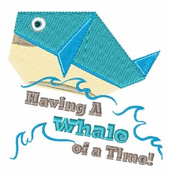 Whale Of A Time! embroidery design