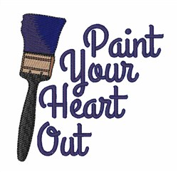 Paint Your Heart Out embroidery design