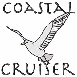 Coastal Cruiser Seagull embroidery design