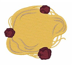Angel Hair Pasta Entree embroidery design