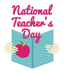 National Teachers Day embroidery design