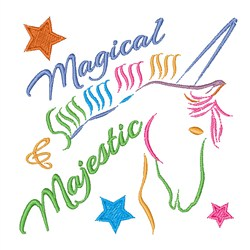 Magical & Majestic embroidery design