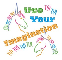Use Your Imagination embroidery design
