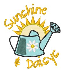 Sunshine Daisies embroidery design
