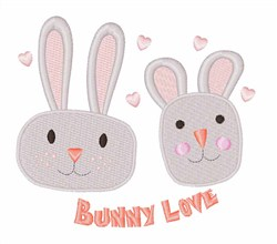 Bunny Love embroidery design