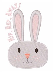 Hip Hop Away Bunny! embroidery design