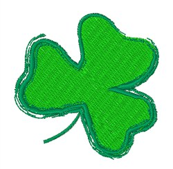 Lucky Charm Shamrock embroidery design