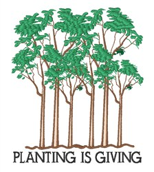 Planting Is Giving embroidery design