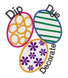 Dip Dye Decorate embroidery design