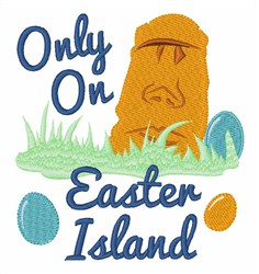 Only On Easter Island embroidery design