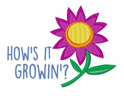 Hows It Growin? embroidery design