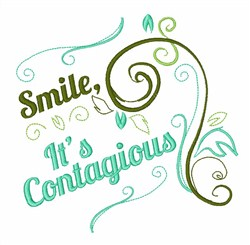 Smile, Its Contagious embroidery design