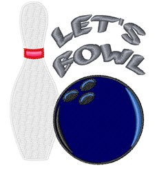 Lets Bowl embroidery design