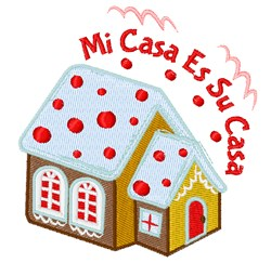 Mi Casa embroidery design