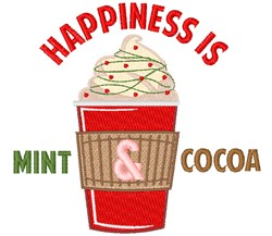 Mint Cocoa Happiness embroidery design