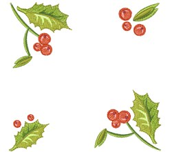 Holly Leaves embroidery design