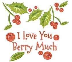 Love Berry Much embroidery design