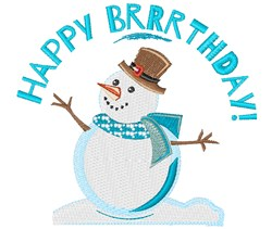 Happy Brrrthday embroidery design
