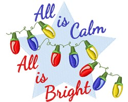 All Is Bright embroidery design