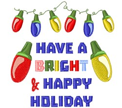 A Bright Holiday embroidery design