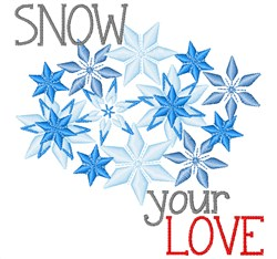 Snow Your Love embroidery design