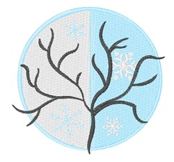 Winter Tree embroidery design