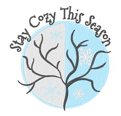 Stay Cozy embroidery design