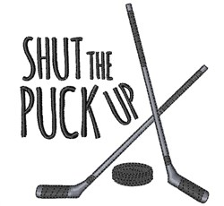 Shut Puck Up embroidery design