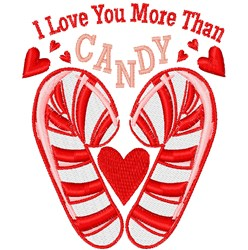 More Than Candy embroidery design