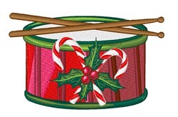 Xmas Drum embroidery design