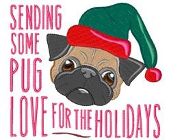 Pug Love embroidery design