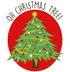 Oh Christmas Tree embroidery design