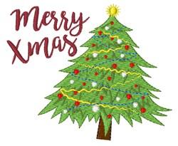 Merry Xmas embroidery design
