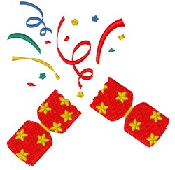 Party Cracker embroidery design