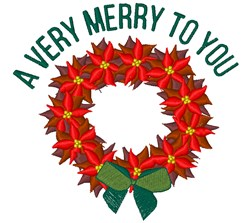 A Very Merry embroidery design