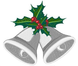 Holly Bells embroidery design